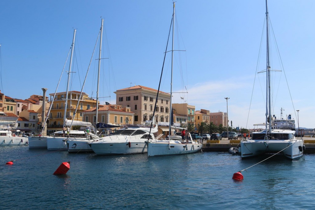 Once our guests returned from their long walk around La Maddalena we made our departure from the port