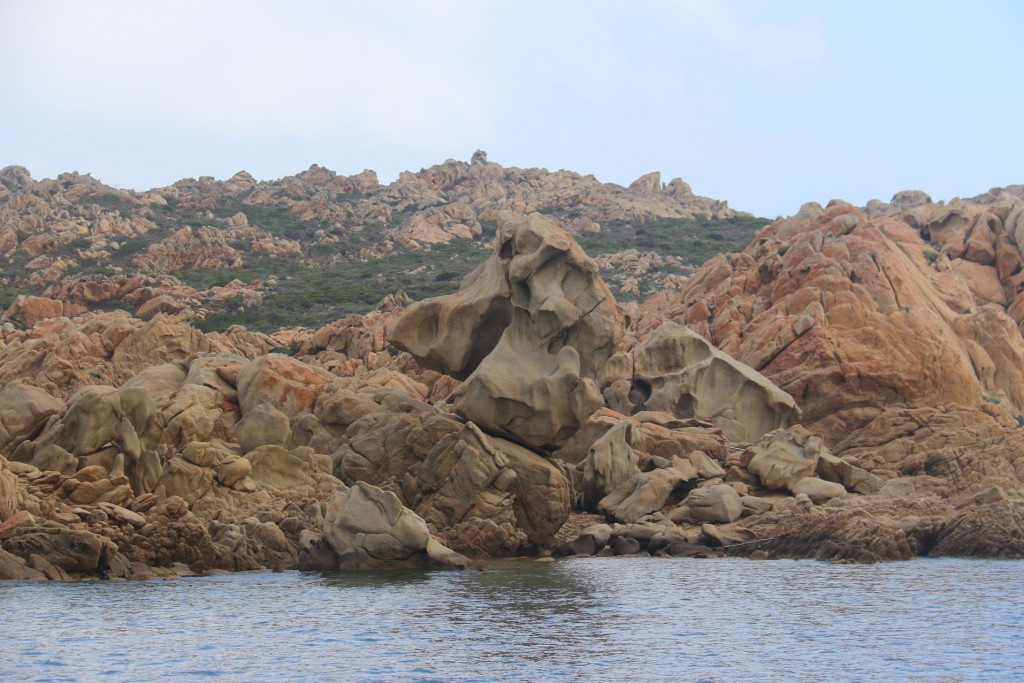 The abstract rock formations here are similar to those ones seen in all of this windswept area between Corsica and Sardinia