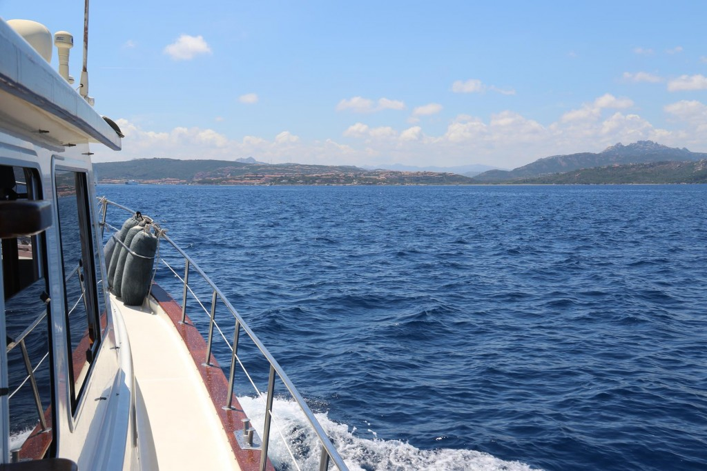 We make our way back to mainland Sardinia and can see Palau in the distance