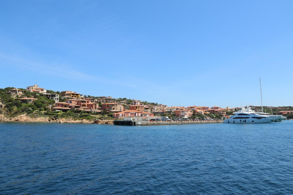 The old port in the harbour is called Porto Vecchio and in July and August a row of massive superyachts line the shore here