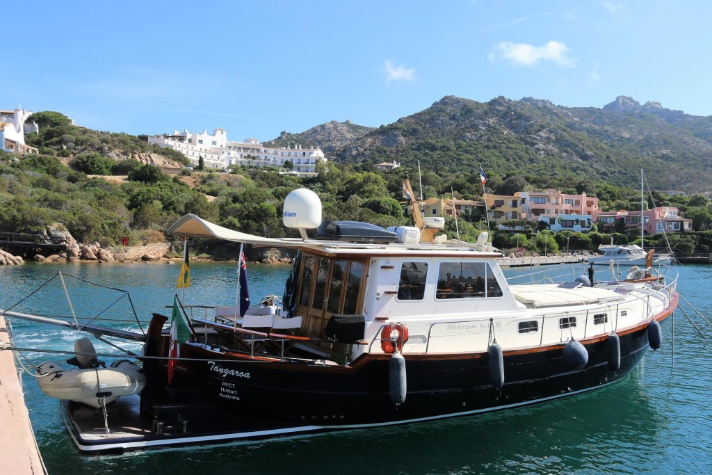 We decide to take a berth in the Porto Cervo Marina as there were a lot of fabulous superyachts moored there for the races
