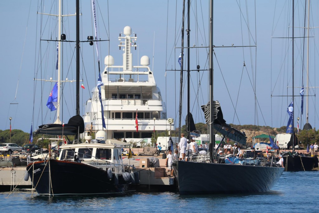 We had a great position in the port near some of the amazing super yachts