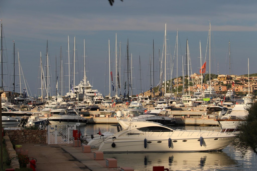 The marina in Port where we are moored looks quite busy today as there are many of the super yachts in the port for the annual Loro Piana Super Yacht Regatta