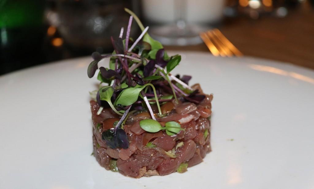 The tuna tartare was fresh and delicious