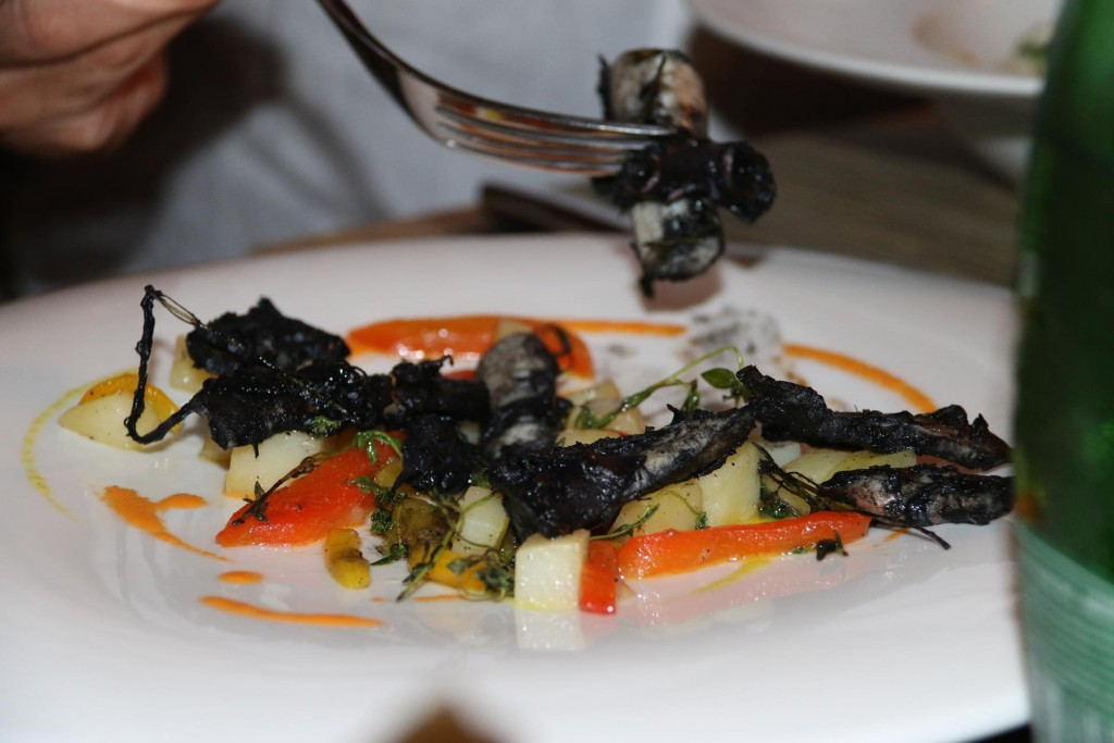 The squid ink octopus looked very attractive