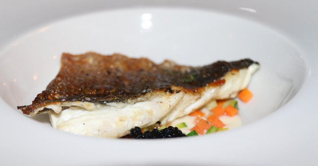 The fish was perfectly cooked and just the right portion size for a change
