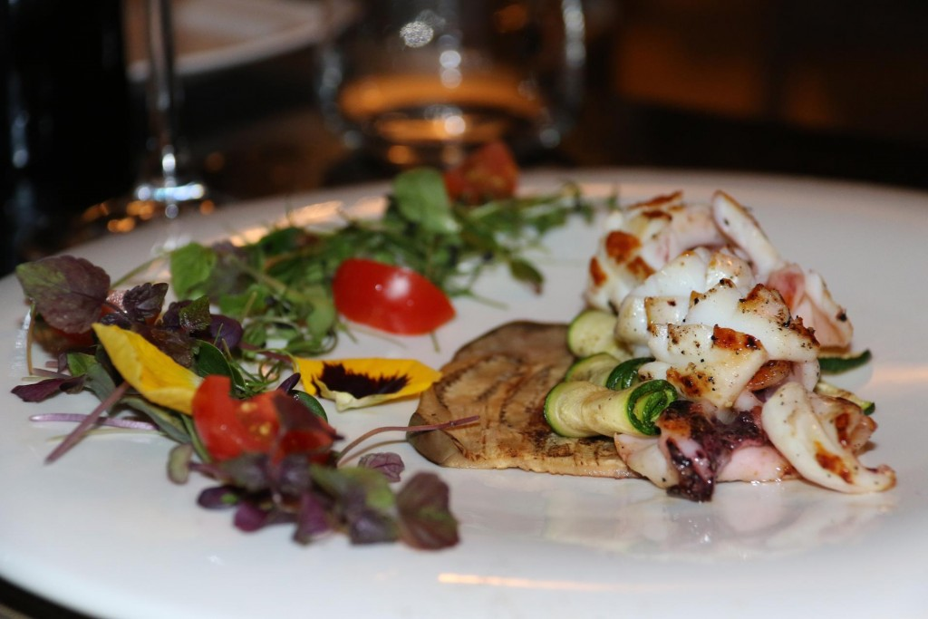The grilled octopus looked fabulous