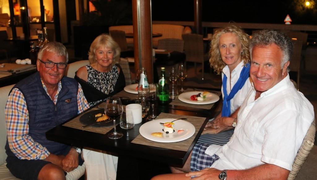 Dinner in the Aqua Lounge at Marina Porto Cervo