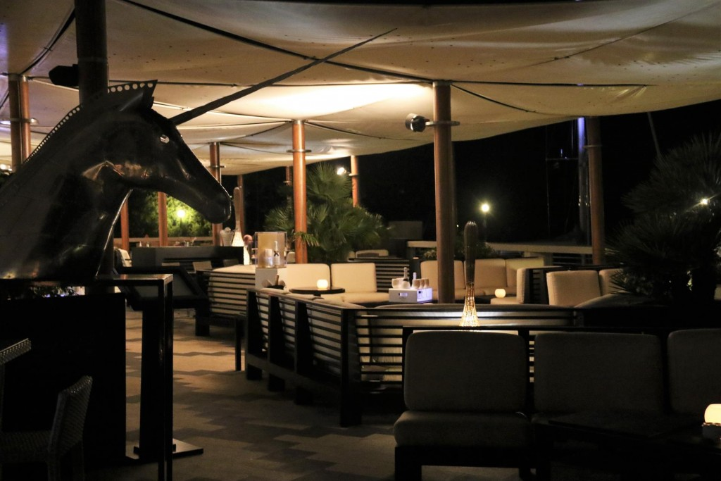 For dinner this evening we try the Aqua Lounge at the Porto Cervo Marina