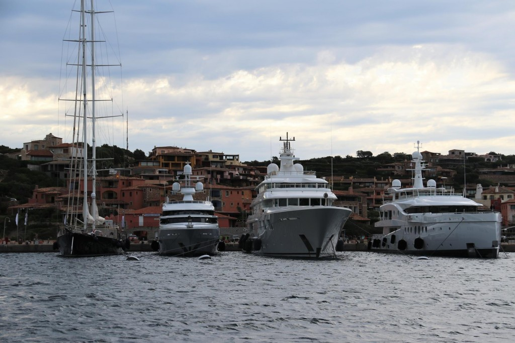 Porto Vecchio, the old part of the harbour has a few more large yachts arrive