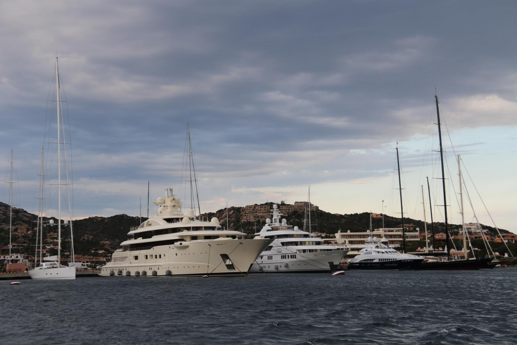 As we depart we pass the huge super yachts  tied up on the outer wall of the marina