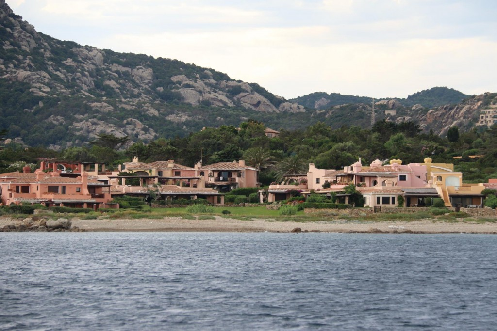 Heading north we pass the beach front elegant mansions of Port Cervo