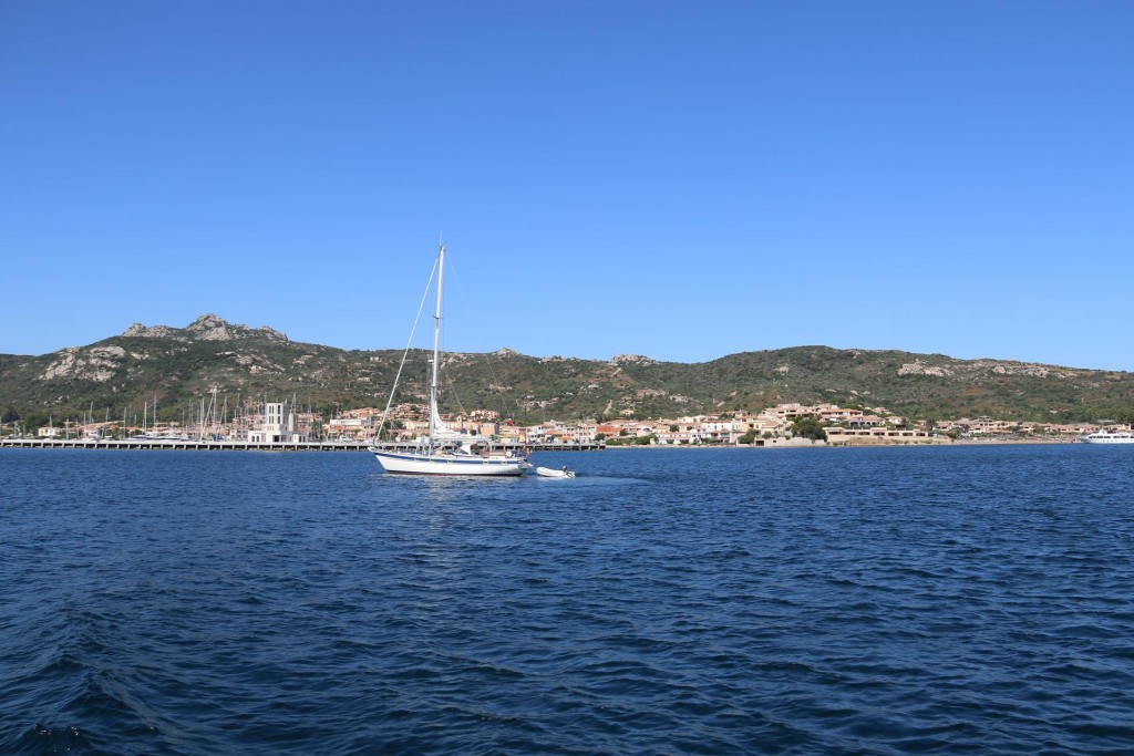 As we depart the port another yacht arrives