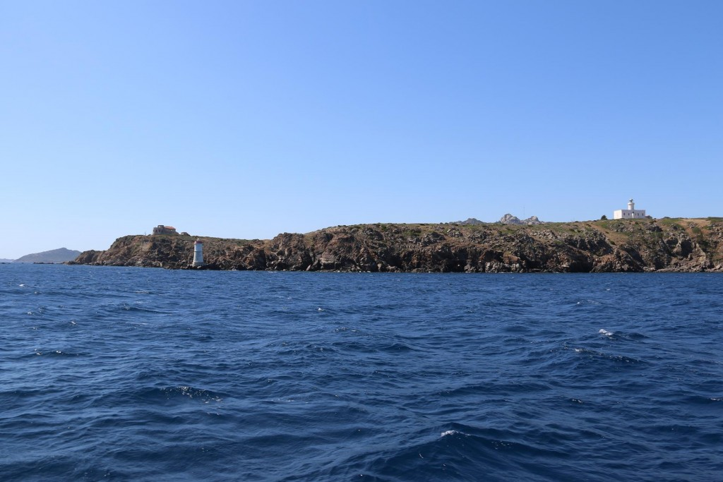 Once again we approach Capo Ferro the north west tip of Sardinia