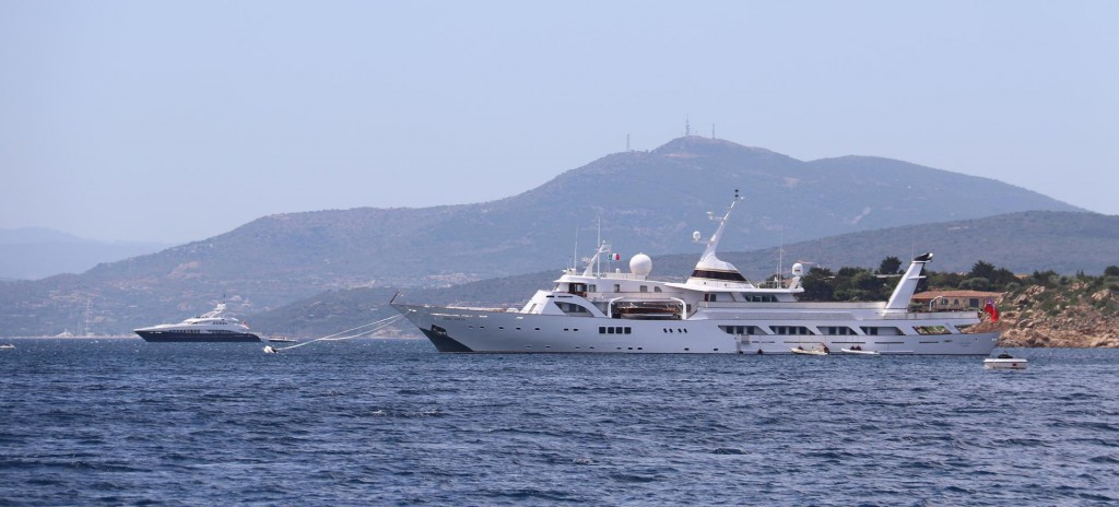 There is no shortage of super yachts around this area