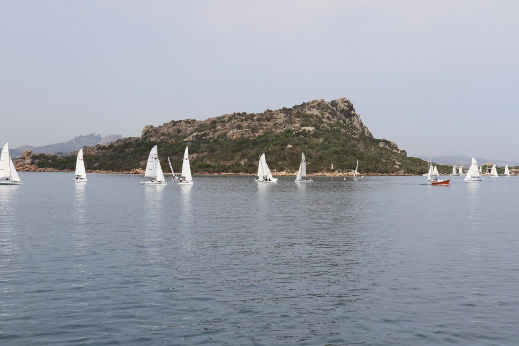 This morning as we depart Porto Palma we see the sailing school has all the young pupils out in their boats