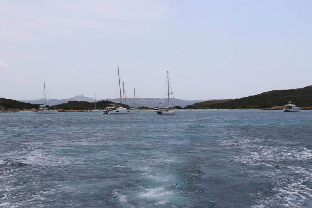 After several hours enjoying the sun and the water we motor to a closer bay near Cannigione for the night