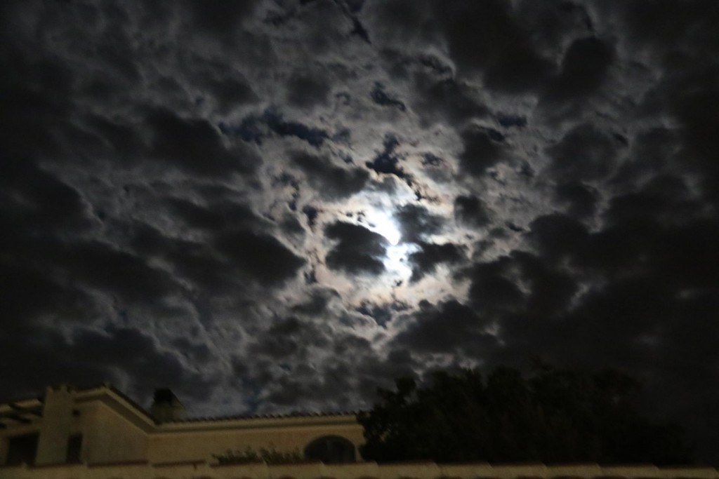What an interesting sky in the late hours of the evening!!