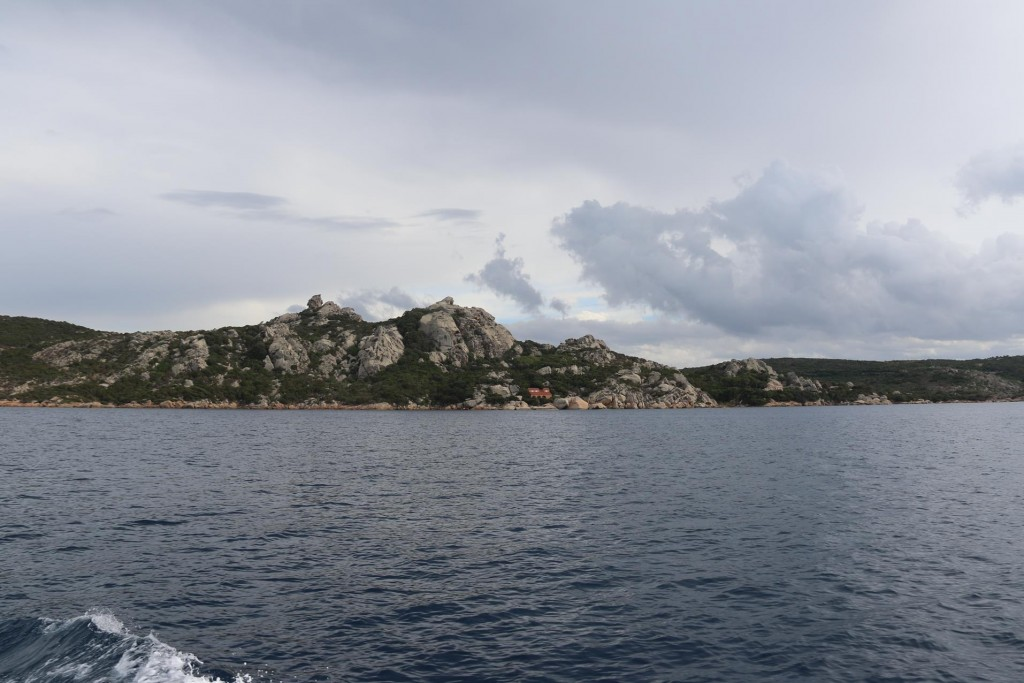 The rugged south west coastline of Isola San Stefano, one of the La Maddalena Islands