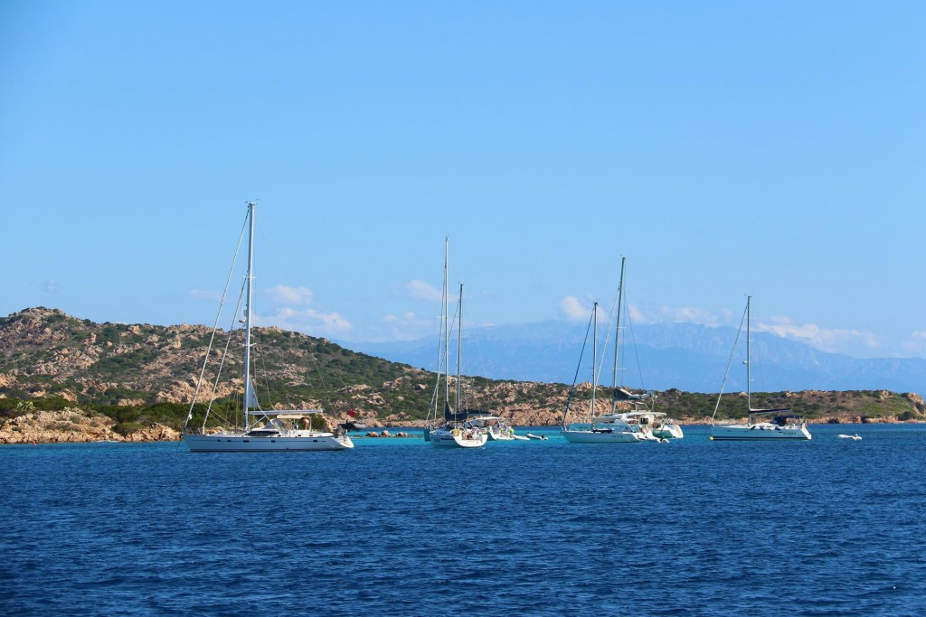 This morning we leave Deadman's passage and continue west to go to Bonifacio to pick up our next guest