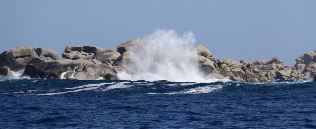 There is a huge swell coming from the west as we make our way to Bonifacio