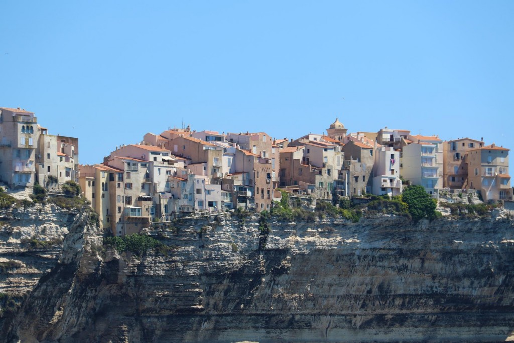 Once again we pass the magnificent old houses balancing on the limestone cliffs of Bonifacio