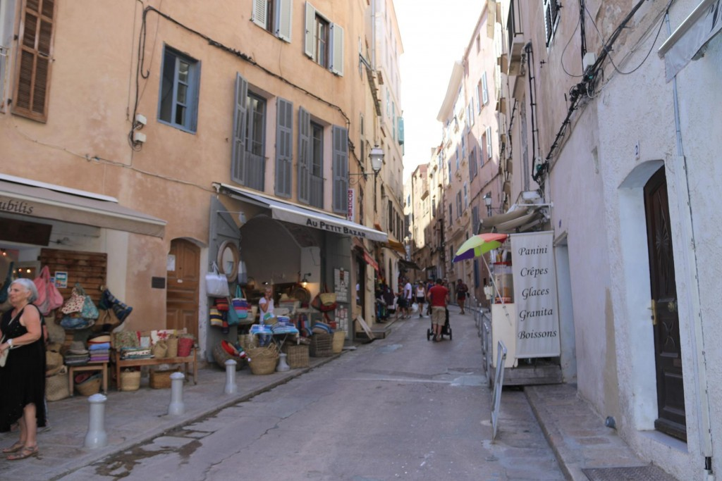 There are some nice quaint shops in the narrow streets of the old town high on the hill