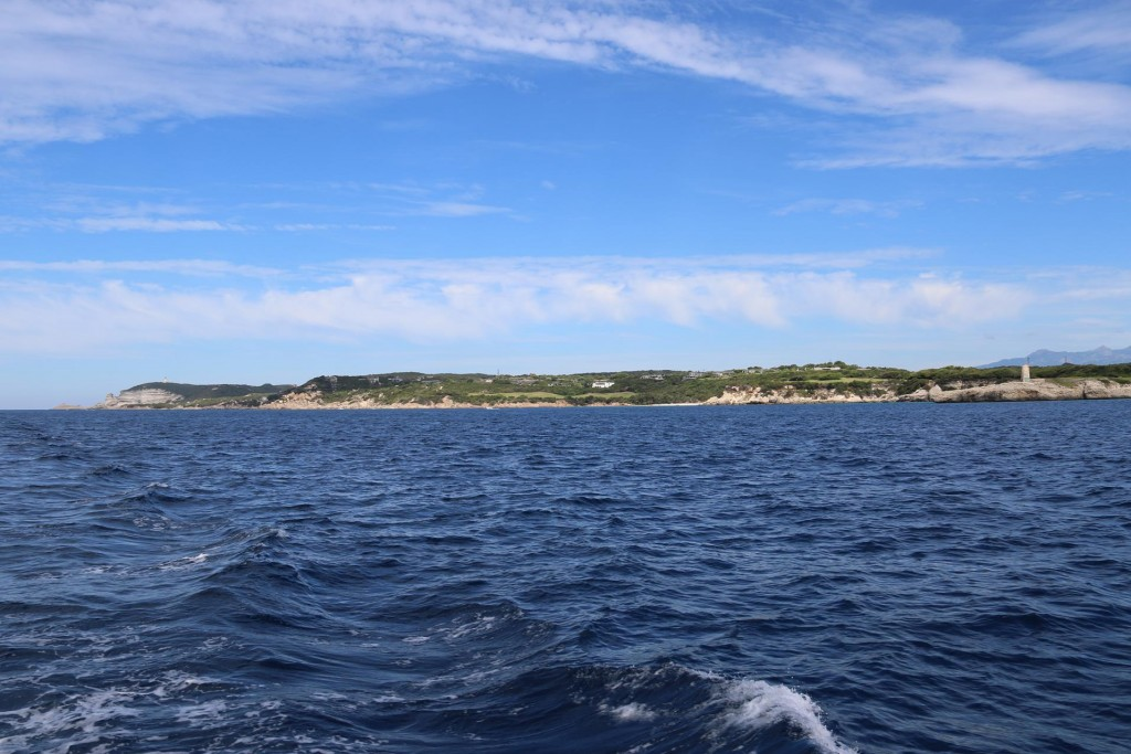 We continue east along the south coast of Corsica