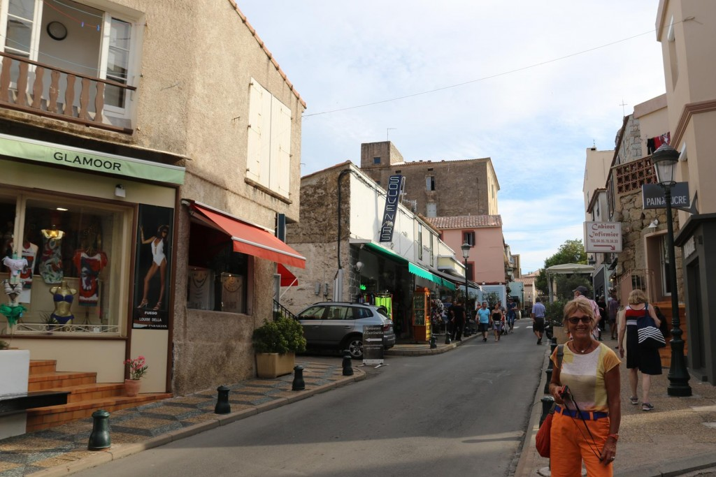Boutique shops, bars and restaurants sit side by side in Porto-Vecchio's narrow lanes