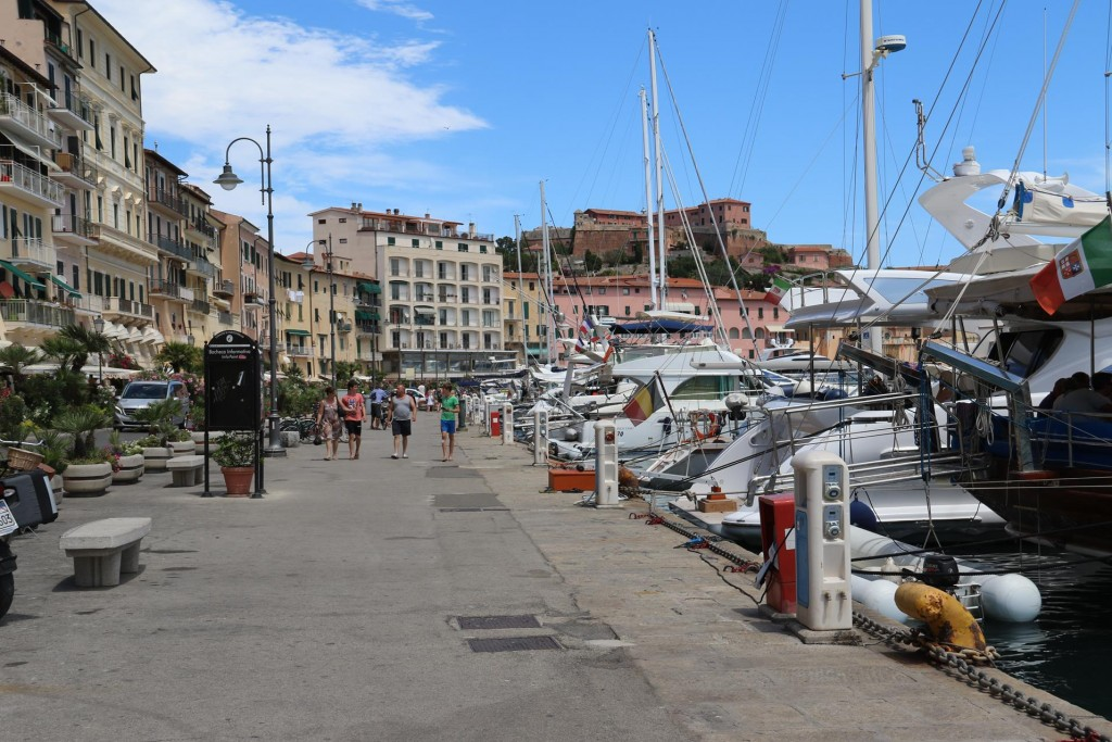Many visiting boats are moored along the town quay today