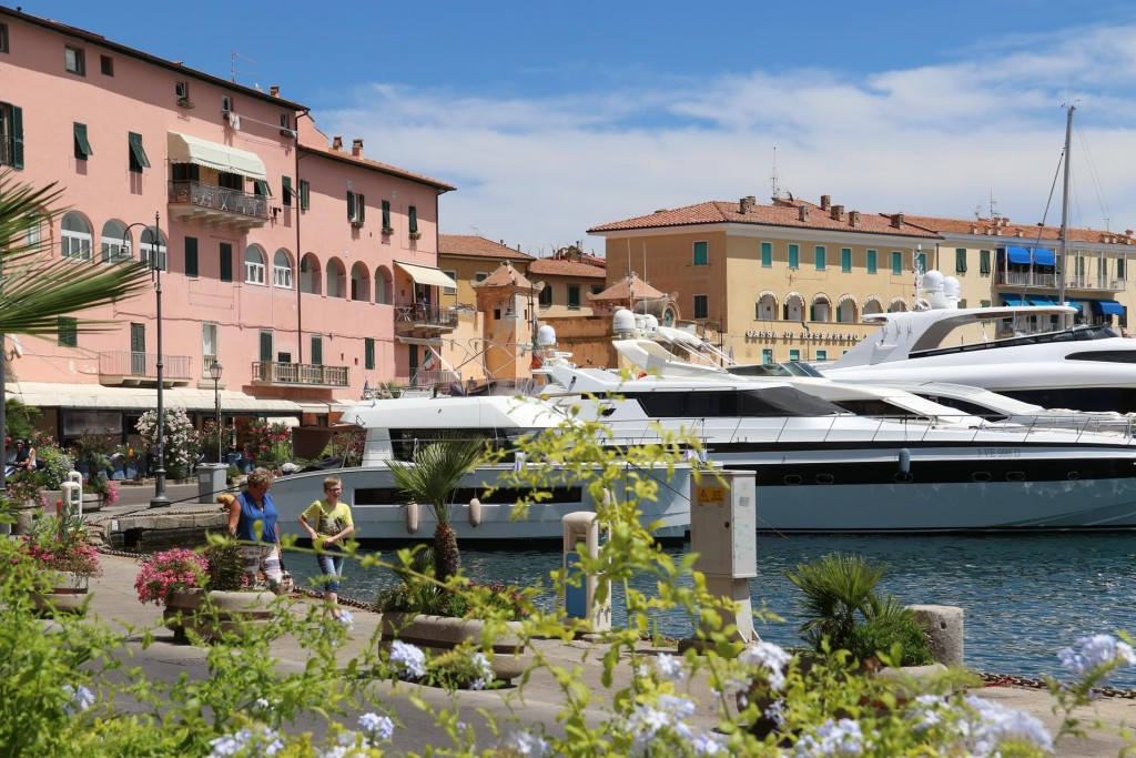 Portoferraio is a well patronised port for super yachts of all sizes