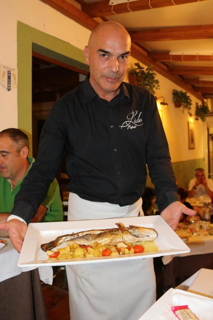 For a main course we have my favourite fish dish, Pesce al Forno Promodorini