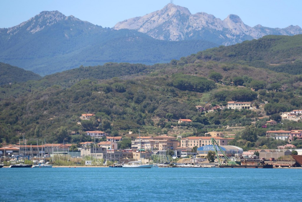 Looking back to Easom Cesa Marina with Monte Capanne in the background