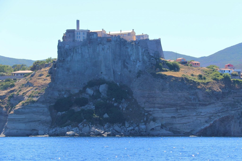 The conspicuous fort which is called the Fortress of St George was apparently built by the Genoese in 1540