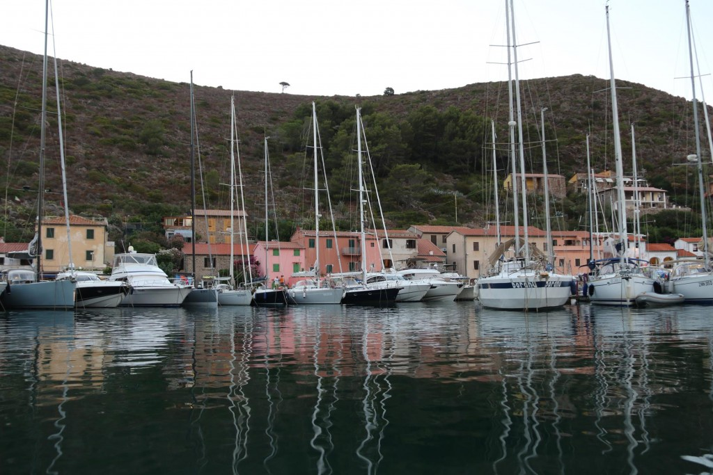 The harbour is tightly packed tonight with visiting yachts