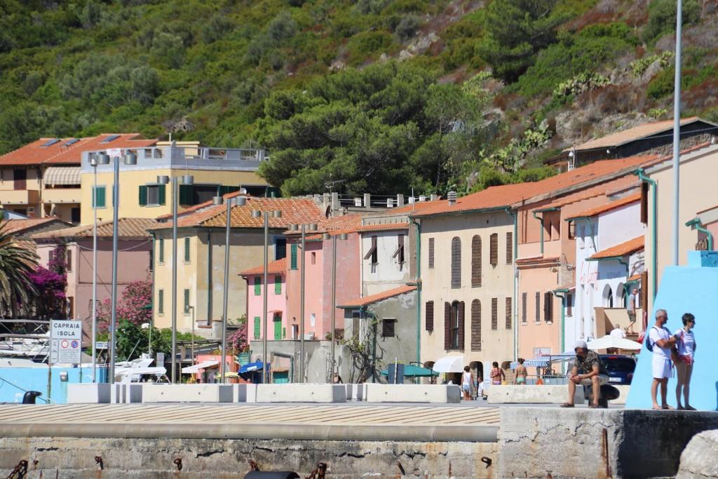 The ferry pier in Porto Capraia
