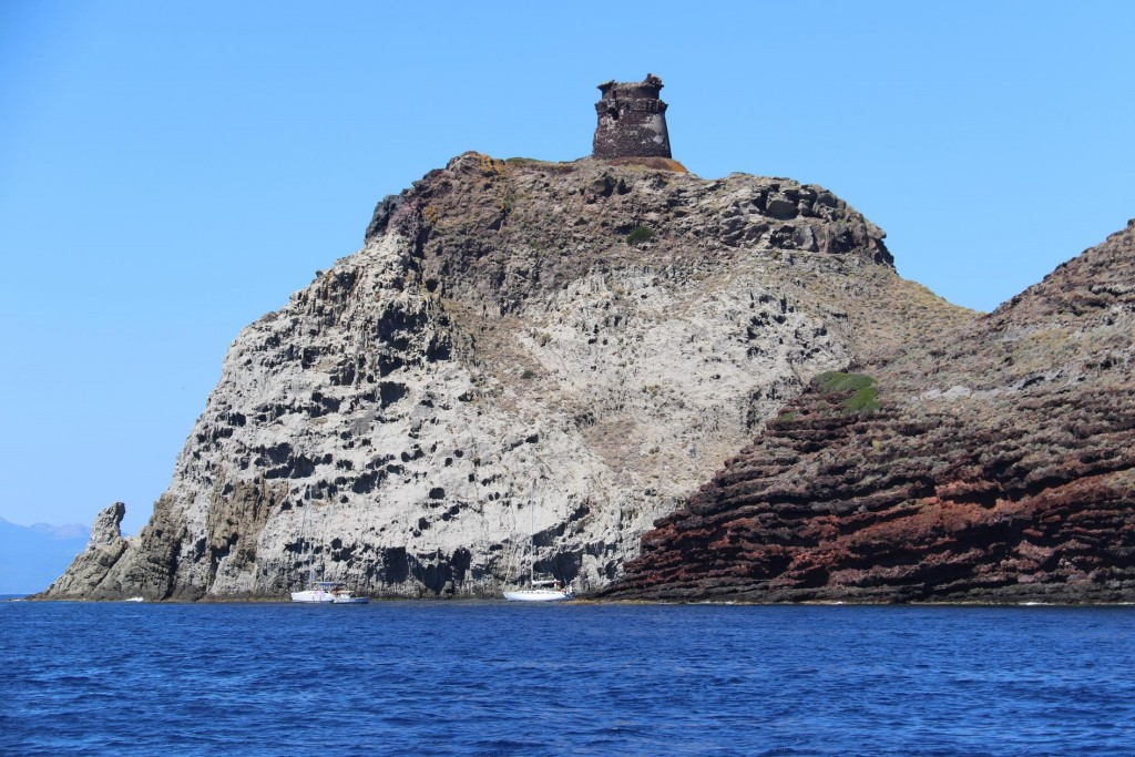 Torre dello Zenobito stands prominent on the southern tip of the small island