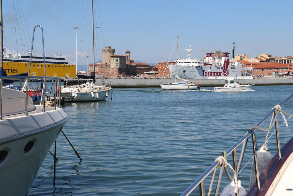A great view of Fortreza  Vecchia which is a large old fortress situated in the port
