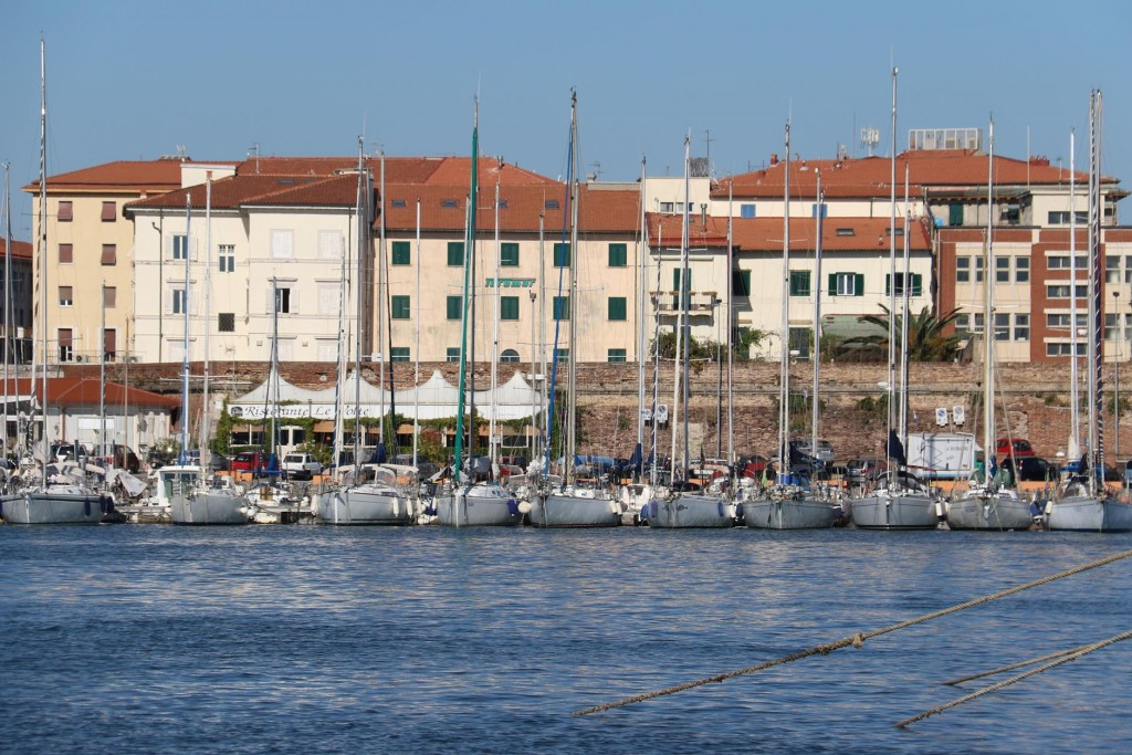Looking across to the other side of Porto Mediceo