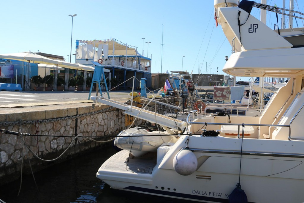 The port is very secure and has the usual facilities including a bar nearby