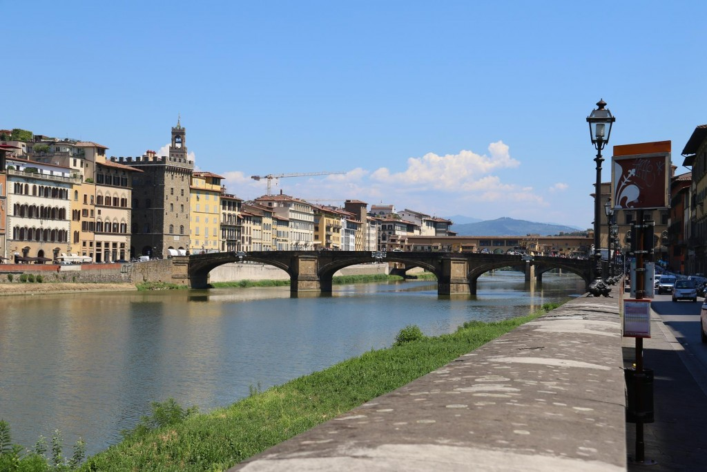 By foot we set off for a walk along the River Arno which flows through Florence