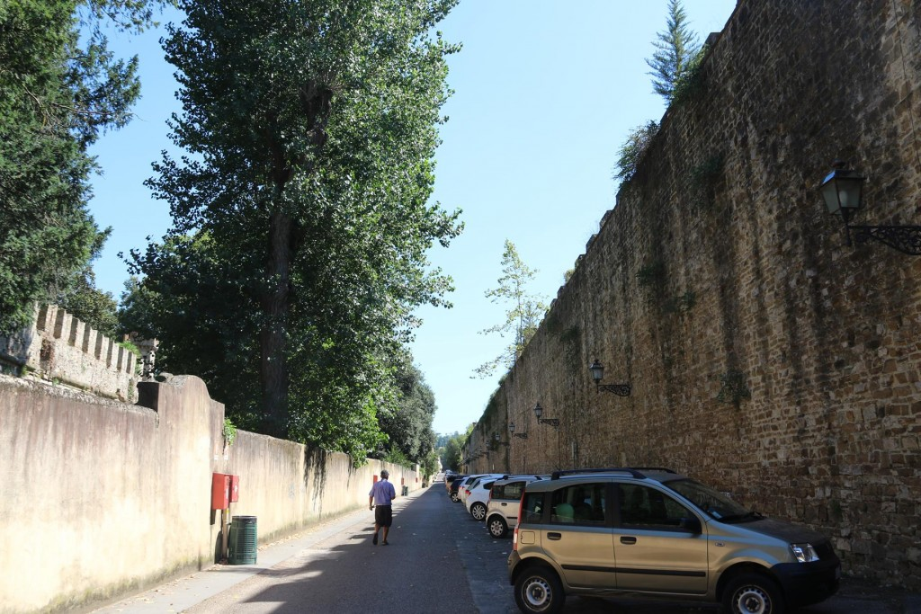 Fortunately we found a parking spot by the ancient city walls