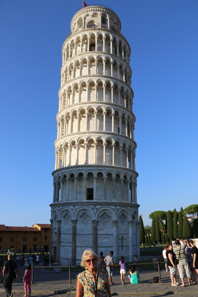 The Leaning Tower of Pisa was first started to be built in 1173 and eventually completed in the 1300's. If it was not for the delay and the earth under it compacting over that time, it is believed the tower would have eventually fallen over!!