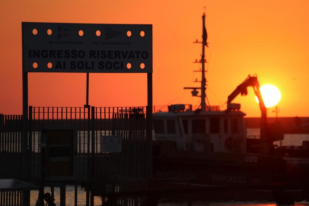 Sunset over Marina Molo