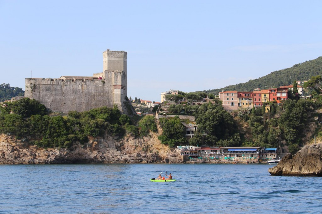 On the point is quite a well preserved castle called Castello di San Giorgio