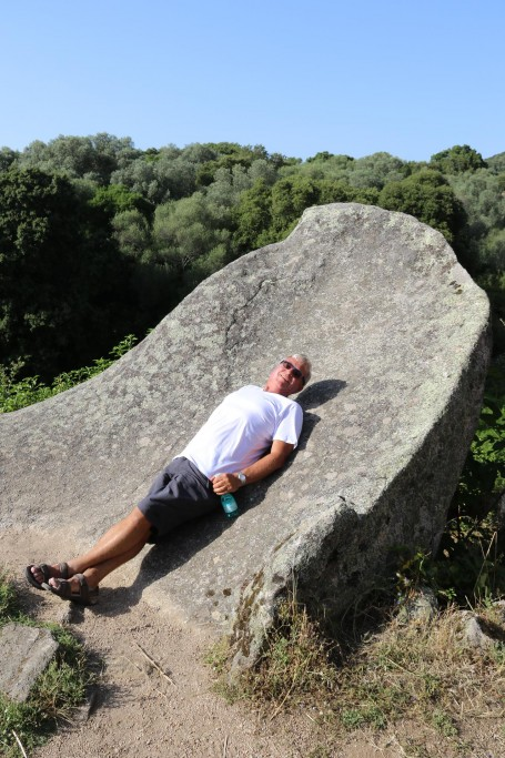 Ric has a rest on a very unusual rock