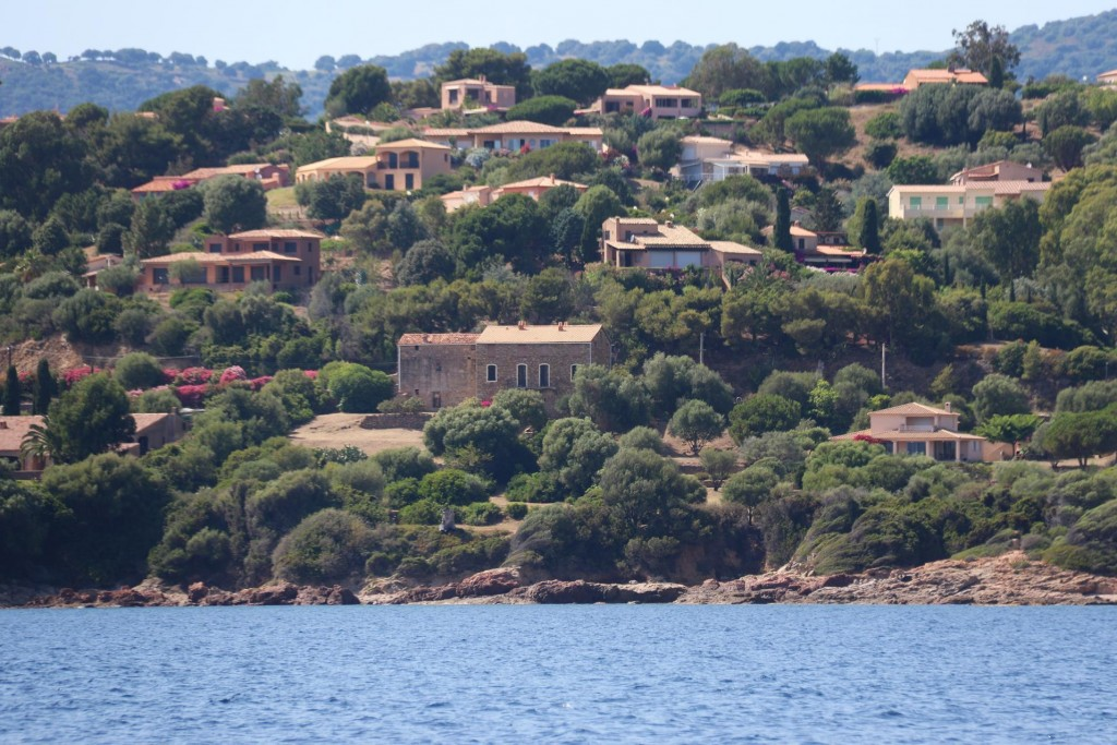 Some lovely villas cover the hillside in the north of the bay