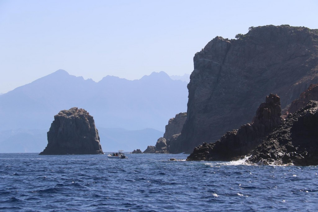 The rugged point of Capo Rossu