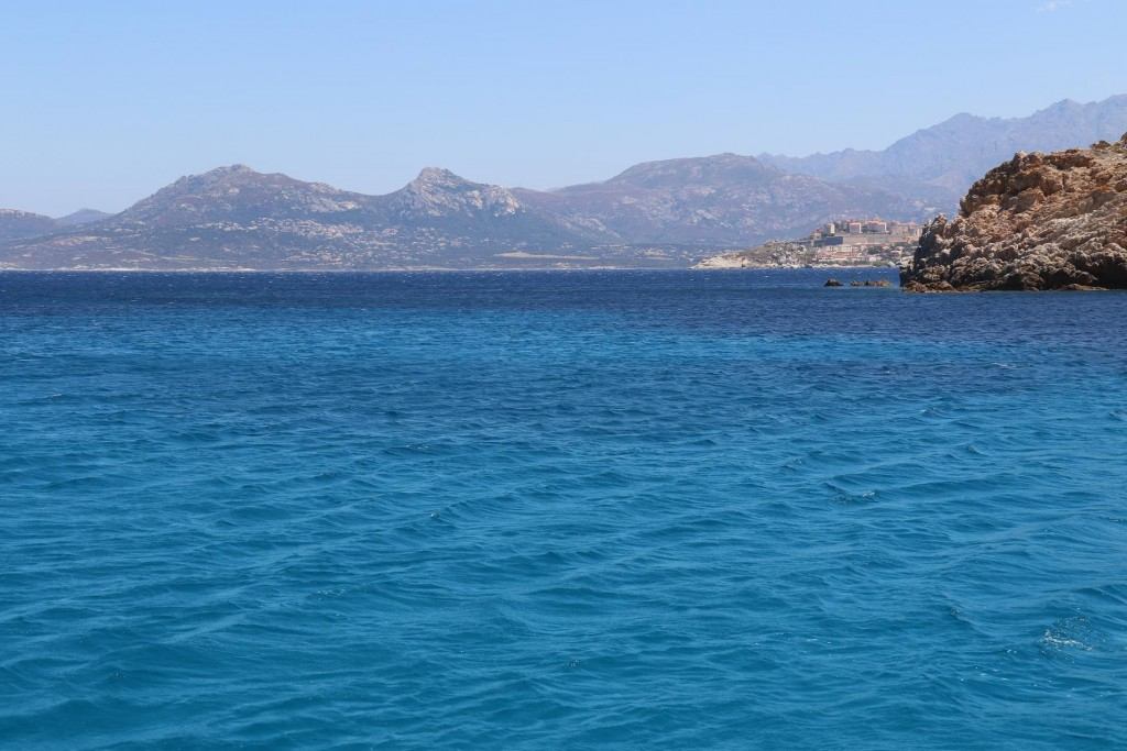We still had a good view of Calvi from our safe anchorage