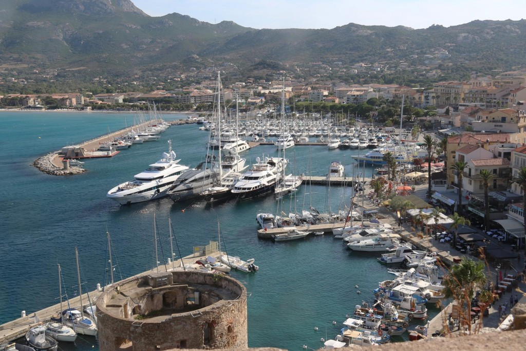 A wonderful view over the port and marina of Calvi. It is believed the Phoenicians started using this anchorage by Calvi as early as 500 BC